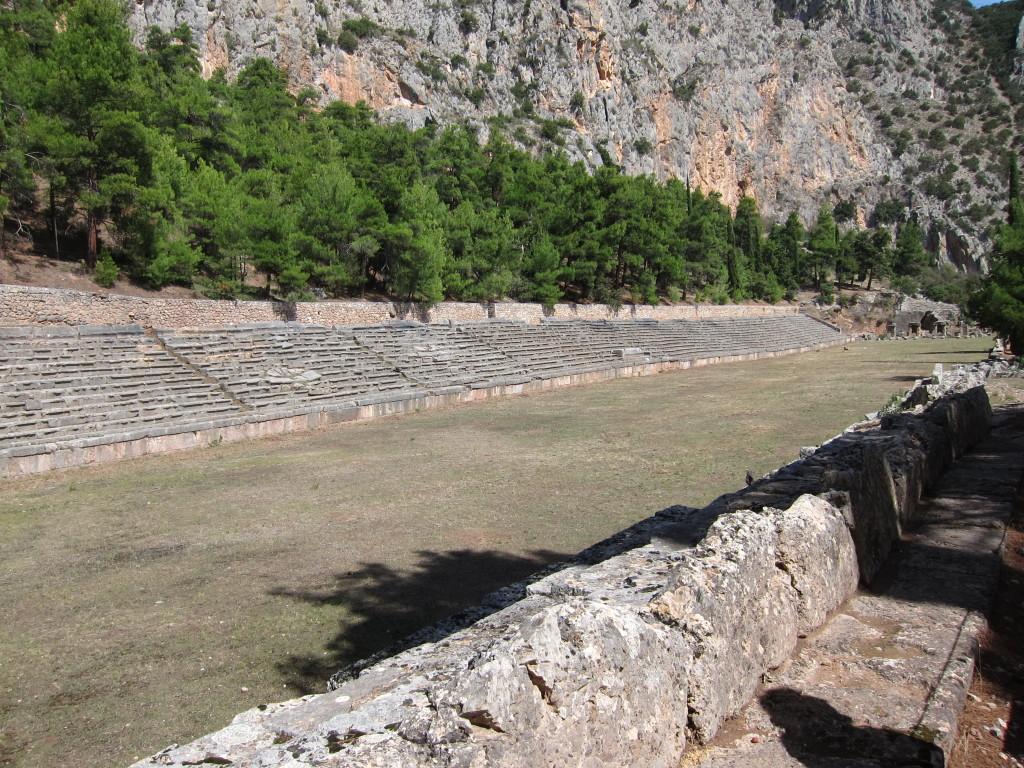 Olympic stadium dating from 585 B.C