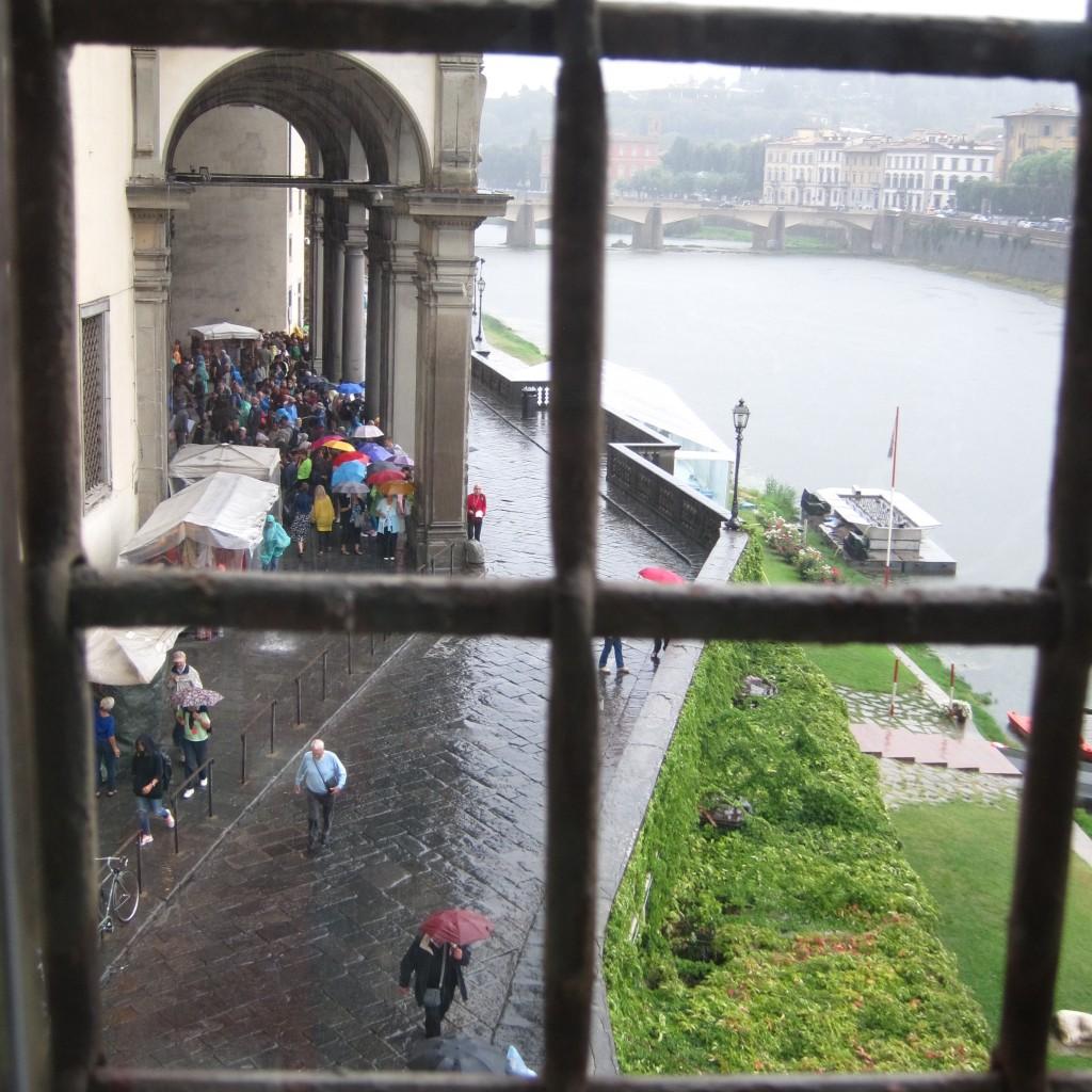The view from the Vasari corridor
