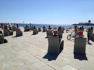 Barcelona beach seats!